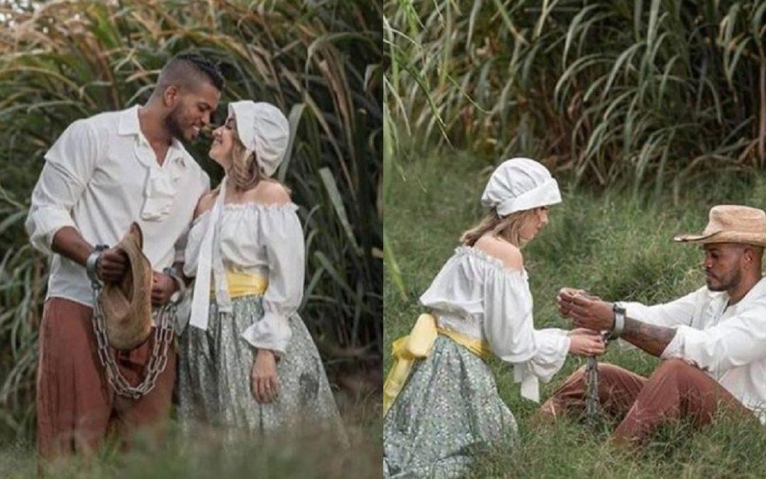 Ensaio de fotos de noivos com o tema 'escravidão' gera indignação na internet